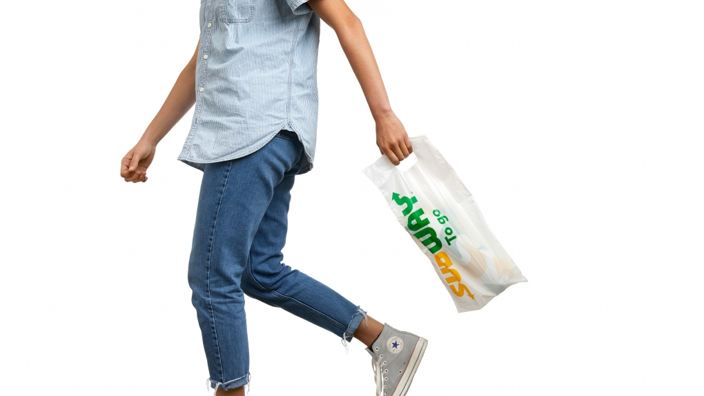 Subway To Go Bag Person