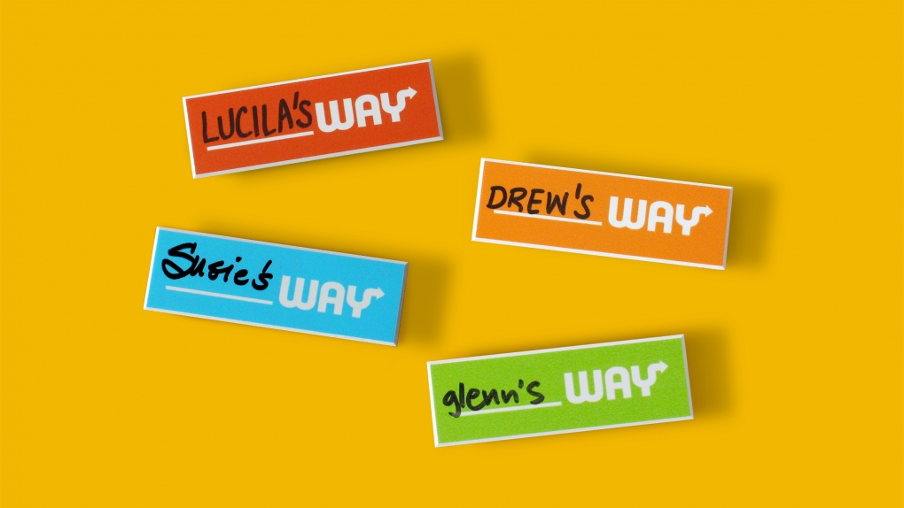 Subway Name Tags