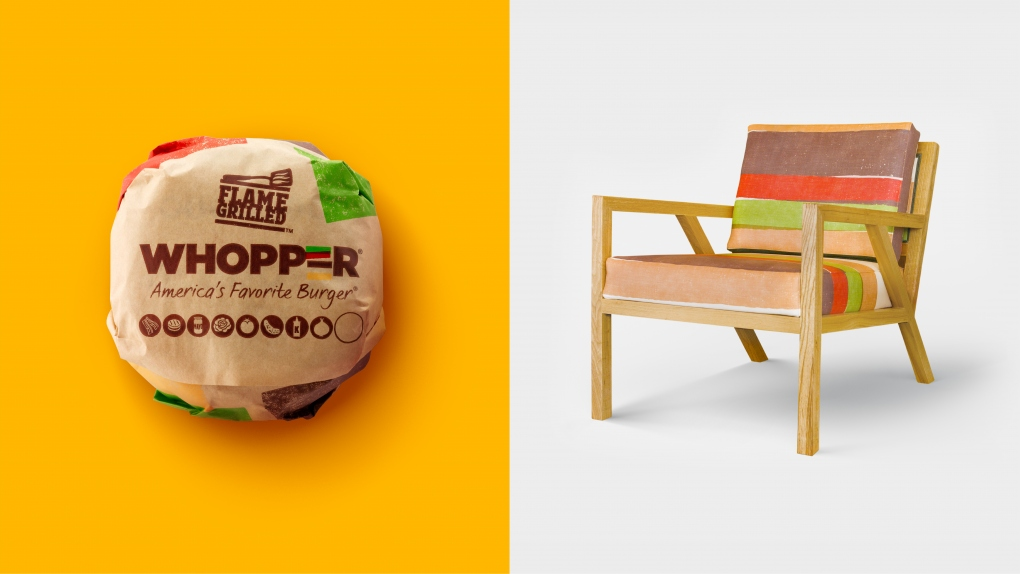 BK Whopper Wrap and Chair