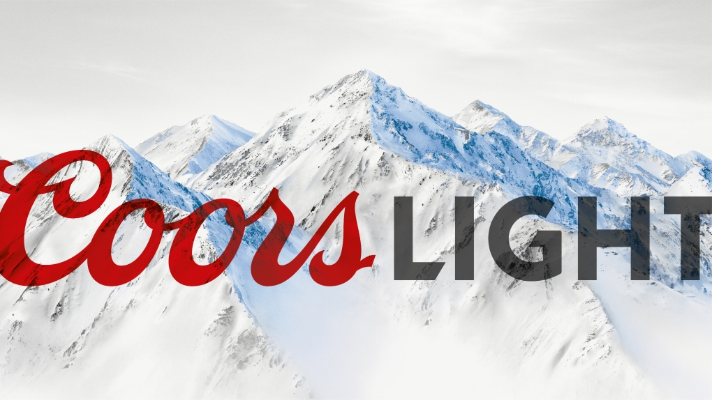 Coors Light Mountain and Logo