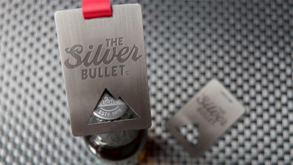Coors Light Silver Bullet Bottle Opener