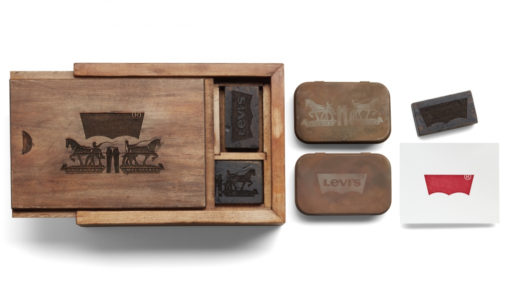 Levi's Box Stamps Tin