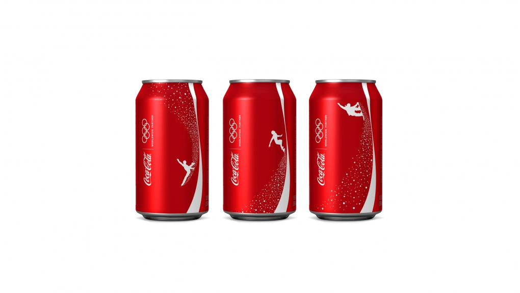 Coca-Cola Olympics Snowboarding Cans