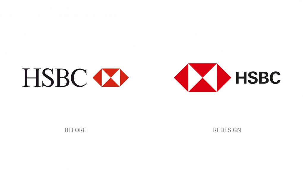 HSBC Before and After Logos