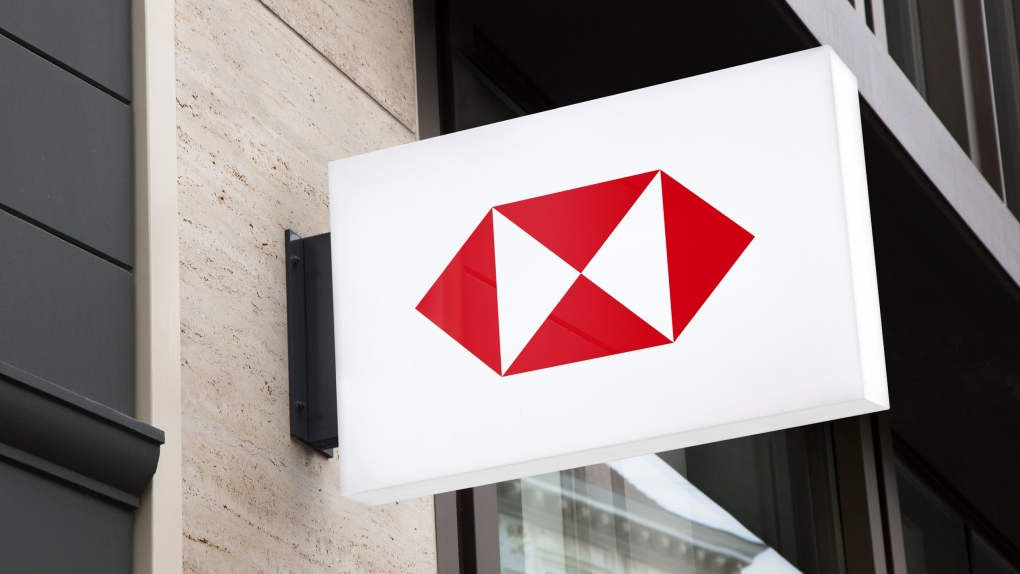 HSBC Wall Sign