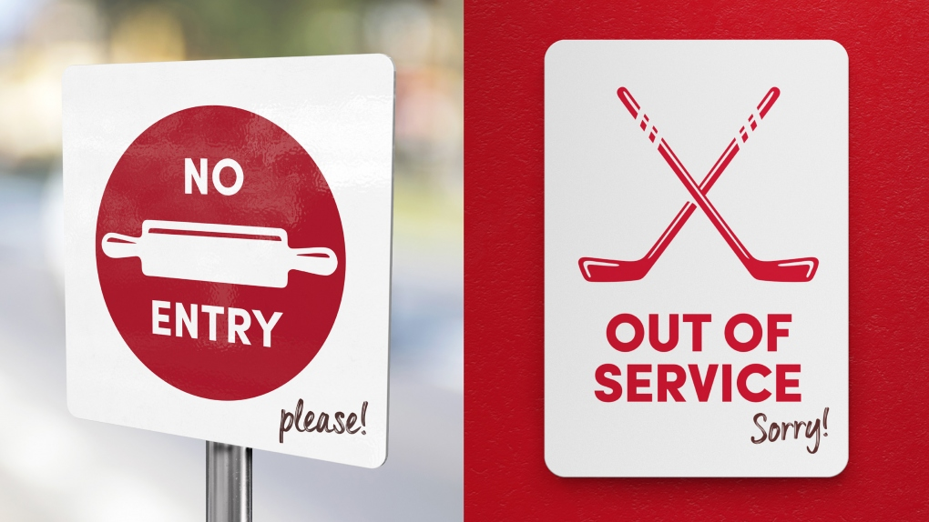 Tim Hortons No Entry & Out of Service Signs