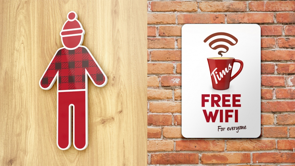 Tim Hortons Toilet & WiFi Signs