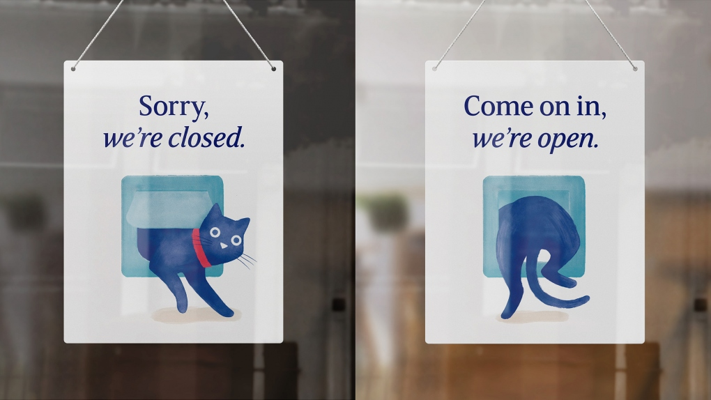 Medivet Open & Closed Sign