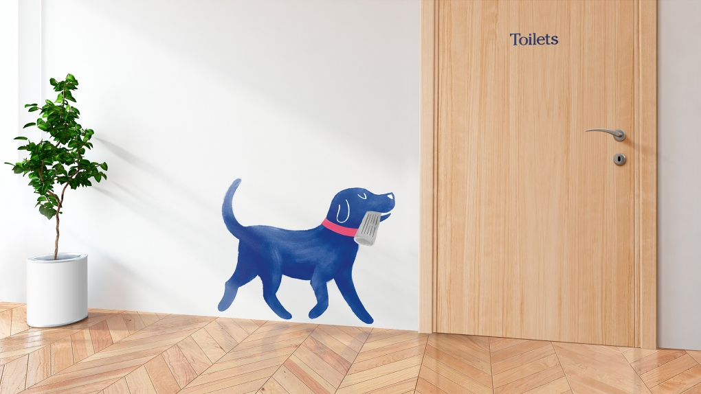 Medivet Toilet Door Illustration
