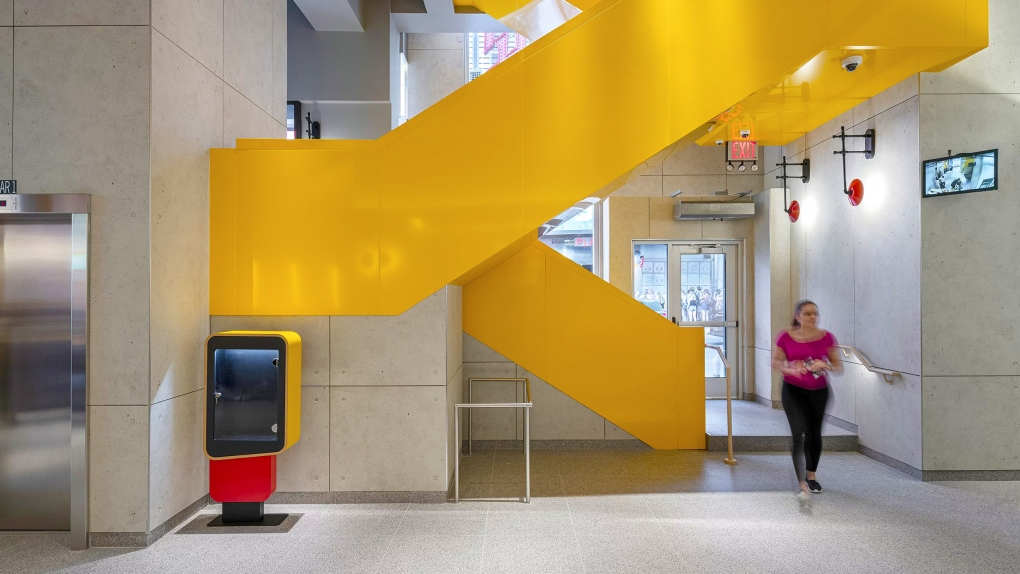 McDonald's Yellow Stairs
