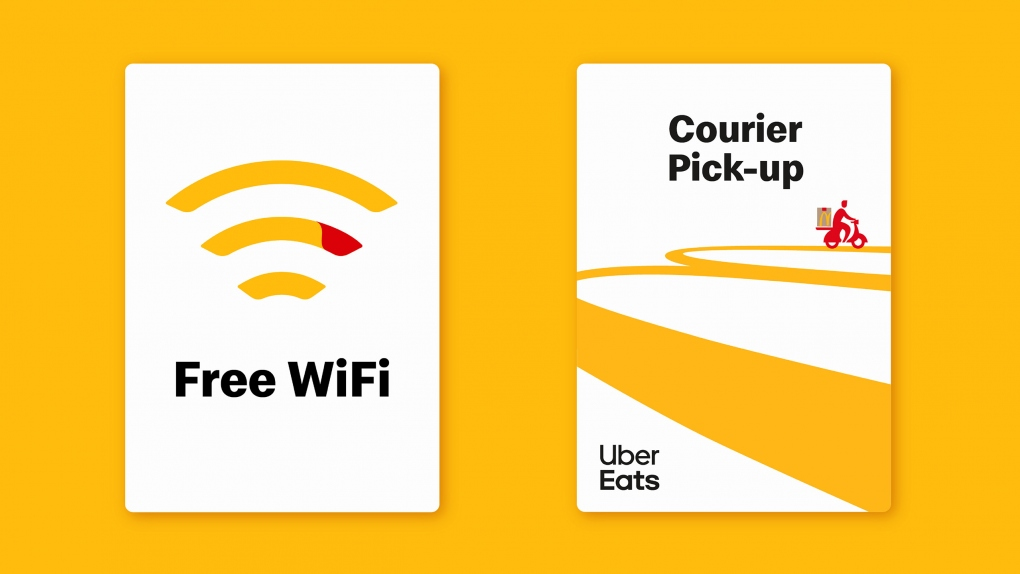 McDonald's Free WiFi & Courier Signs