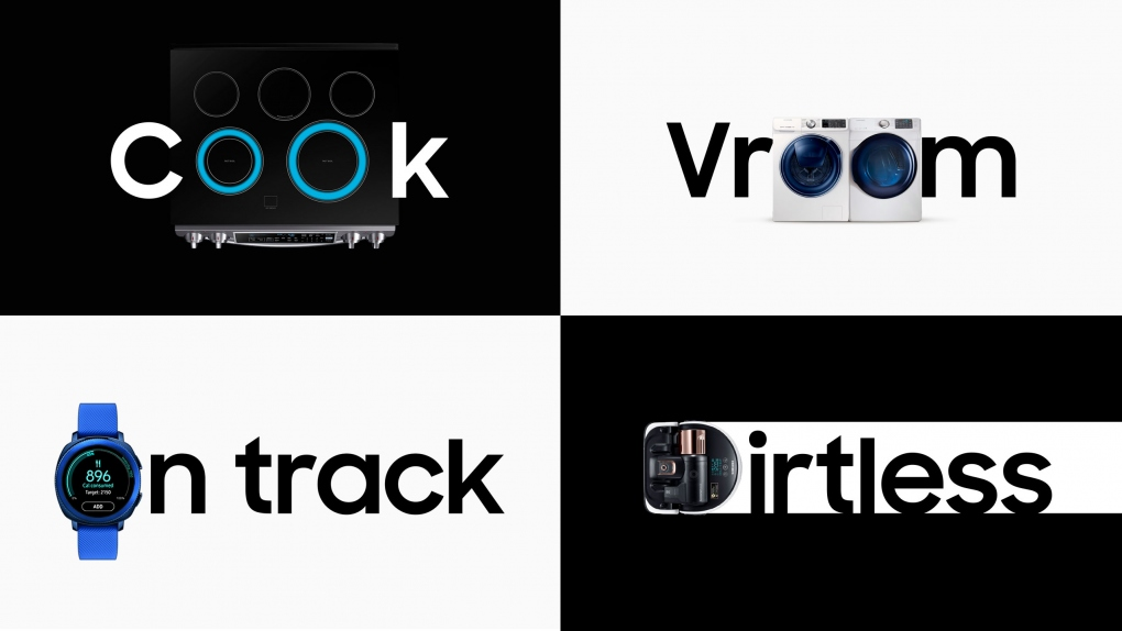 Samsung Product Typography