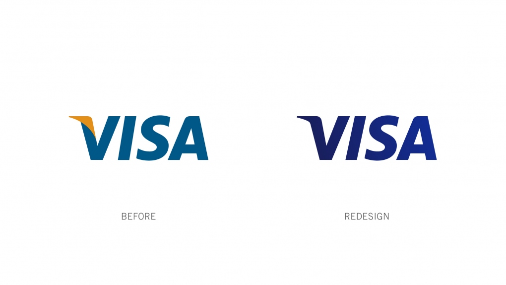 Visa Logo Before and After