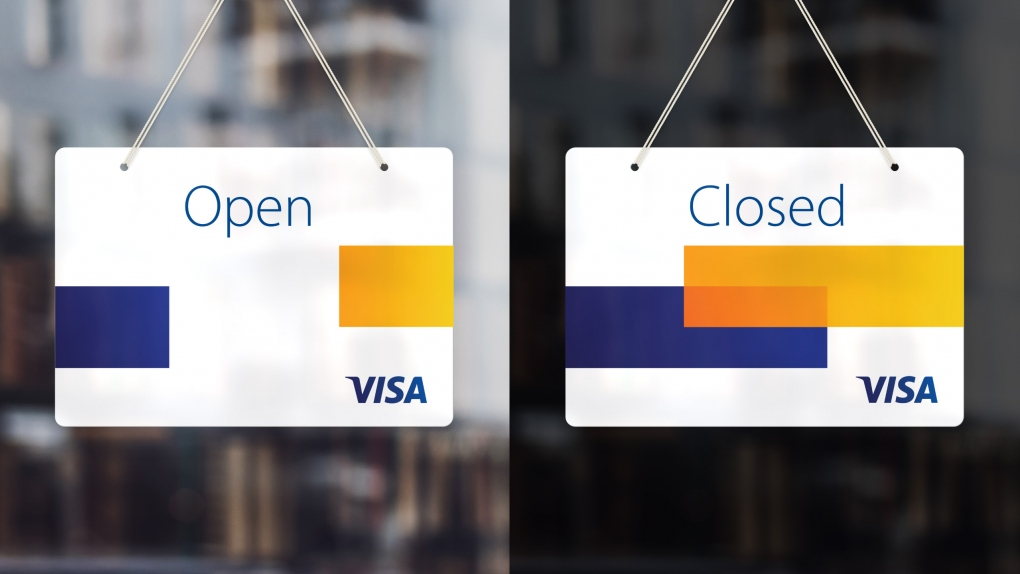 Visa Door Sign Open and Closed